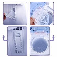 Costway Small Compact Portable Washer has a lint filter and the spinner has a spinner top to hold your clothes down while spin rinsing.
